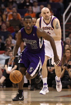 Kings guard Tyreke Evans