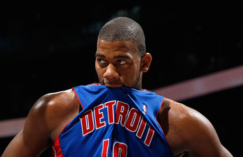 Pistons center Greg Monroe