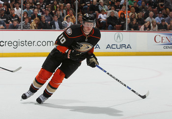 ANAHEIM, CA - APRIL 15:  Corey Perry #10 of the Anaheim Ducks skates against the Nashville Predators in Game Two of the Western Conference Quarterfinals during the 2011 NHL Stanley Cup Playoffs at Honda Center on April 15, 2011 in Anaheim, California.  (P