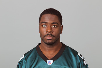 PHILADELPHIA, PA - APRIL 29: In this 2010 photo provided by the NFL, Keenan Clayton of the Philadelphia Eagles poses for an NFL headshot on Thursday, April 29, 2010 in Philadelphia, Pennsylvania. (Photo by NFL via Getty Images)