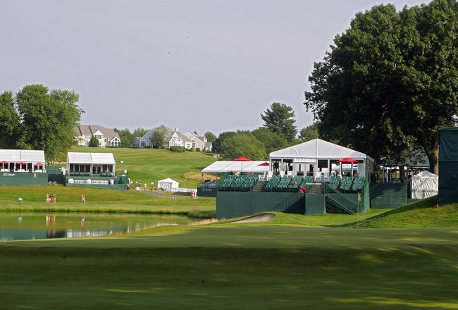 CROMWELL, CT - JUNE 26: A view of the green on the 15th hole at TPC River Highlands on June 26, 2010 in Cromwell, Connecticut.  (Photo by Michael Cohen/Getty Images)