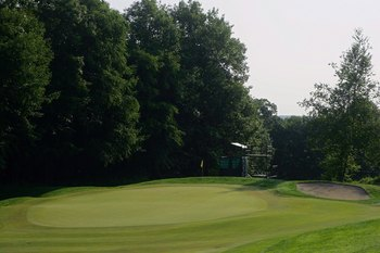 CROMWELL, CT - JUNE 26:  A view of the green on the tenth hole at TPC River Highlands on June 26, 2010 in Cromwell, Connecticut.  (Photo by Michael Cohen/Getty Images)