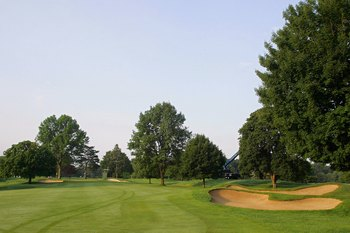 CROMWELL, CT - JUNE 26: A view from the fairway on the second hole at TPC River Highlands on June 26, 2010 in Cromwell, Connecticut.  (Photo by Michael Cohen/Getty Images)