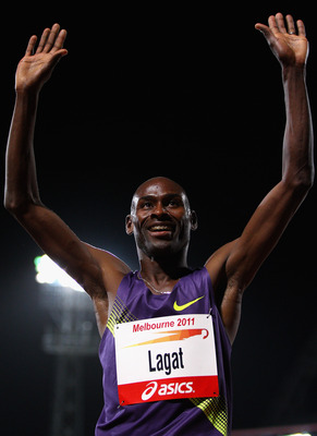 Age has not slowed Bernard Lagat.