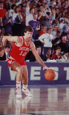 UNIVERSITY OF INDIANA GUARD STEVE ALFORD DURING THE HOOSIERS VERSUS NORTHWESTERN WILDCATS GAME AT MCGAW HALL IN EVANSTON, ILLINOIS.