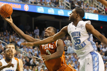 GREENSBORO, NC - DECEMBER 18:  Jordan Hamilton #3 of the Texas Longhorns against Reggie Bullock #35 of the North Carolina Tar Heels at Greensboro Coliseum on December 18, 2010 in Greensboro, North Carolina.  (Photo by Kevin C. Cox/Getty Images)