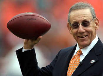 MIAMI - DECEMBER 19:  Stephen Ross owner of the Miami Dolphins poses for a photo before his team plays against the Buffalo Bills at Sun Life Stadium on December 19, 2010 in Miami, Florida. The Bills defeated the Dolphins 17-14.  (Photo by Marc Serota/Gett