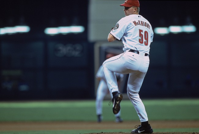 16 Jun 2001:  Tony McKnight #59 of the Houston Astros starts to pitch during the game against the Texas Rangers at Enron Field in Houston, Texas.  The Astros defeated the Rangers 2-1.Mandatory Credit: Ronald Martinez  /Allsport