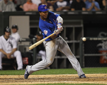 CHICAGO, IL - JUNE 20: Starlin Castro #13 of the Chicago Cubs takes a swing against the Chicago White Sox at U.S. Cellular Field on June 20, 2011 in Chicago, Illinois. The Cubs defeated the White Sox 6-3. (Photo by Jonathan Daniel/Getty Images)