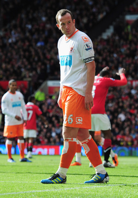 MANCHESTER, ENGLAND - MAY 22:  Charlie Adam of Blackpool looks despondent during the Barclays Premier League match between Manchester United and Blackpool at Old Trafford on May 22, 2011 in Manchester, England.  (Photo by Shaun Botterill/Getty Images)