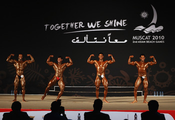 MUSCAT, OMAN - DECEMBER 11:  A general view of the Bodybuilding event at Qurum Natural Park during day four of the 2nd Asian Beach Games Muscat 2010 on December 11, 2010 in Muscat, Oman.  (Photo by Bryn Lennon/Getty Images)