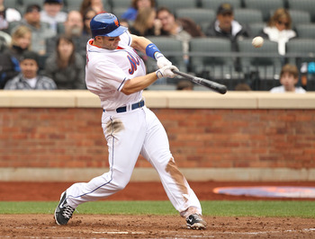 NEW YORK, NY - APRIL 10:  David Wright #5 of the New York Mets in action against the Washington Nationals during their game on April 10, 2011 at Citi Field in the Flushing neighborhood of the Queens borough of New York City.  (Photo by Al Bello/Getty Imag