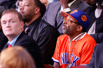 NEWARK, NJ - JUNE 23:  Director Spike Lee attends the 2011 NBA Draft at the Prudential Center on June 23, 2011 in Newark, New Jersey.  NOTE TO USER: User expressly acknowledges and agrees that, by downloading and/or using this Photograph, user is consenti