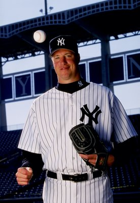 26 Feb 1999:  Pitcher Jeff Juden #57 of the New York Yankees poses for the camera on Photo Day during Spring Training at Legends Field in Tampa, Florida. Mandatory Credit: Vincent Laforet  /Allsport