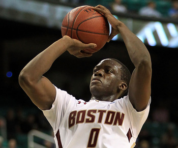 GREENSBORO, NC - MARCH 10:  Reggie Jackson #0 of the Boston College Eagles shoots against the Wake Forest Demon Deacons during the second half of the game in the first round of the 2011 ACC men's basketball tournament at the Greensboro Coliseum on March 1