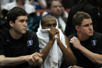 ANAHEIM, CA - MARCH 24:  Nolan Smith #2 of the Duke Blue Devils looks on from the bench towards the end of the game against the Arizona Wildcats during the west regional semifinal of the 2011 NCAA men's basketball tournament at the Honda Center on March 2