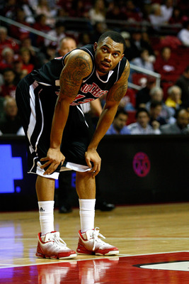 PHILADELPHIA, PA - DECEMBER 18:  Xavier Silas #13 of the Northern Illinois Huskies looks on against the Temple Owls at the Liacouras Center on December 18, 2010 in Philadelphia, Pennsylvania.  (Photo by Chris Chambers/Getty Images)