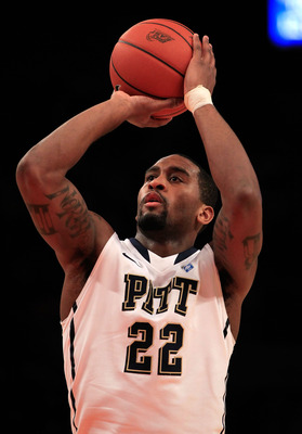 NEW YORK, NY - MARCH 10: Brad Wanamaker #22 of the Pittsburgh Panthers shoots a free throw against the Connecticut Huskies during the quarterfinals of the 2011 Big East Men's Basketball Tournament presented by American Eagle Outfitters  at Madison Square