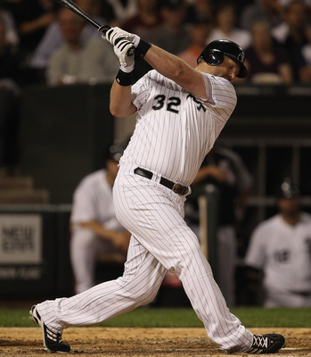 CHICAGO, IL - JUNE 20: Adam Dunn #32 of the Chicago White Sox strikes out against Carlos Zambrano of the Chicago Cubs at U.S. Cellular Field on June 20, 2011 in Chicago, Illinois. The Cubs defeated the White Sox 6-3. (Photo by Jonathan Daniel/Getty Images