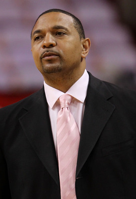 MIAMI, FL - JUNE 02:  ESPN NBA analyst Mark Jackson looks on before Game Two of the 2011 NBA Finals at American Airlines Arena between the Miami Heat and the Dallas Mavericks on June 2, 2011 in Miami, Florida. NOTE TO USER: User expressly acknowledges and