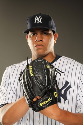 Dellin Betances has an overpowering arsenal and physical presence. He has struck out 10.4 hitters per 9 innings during his minor league career.