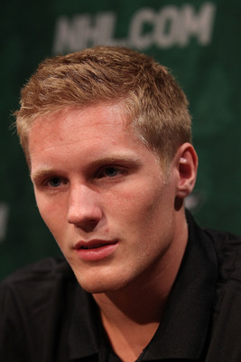 MINNEAPOLIS, MN - JUNE 23:  Gabriel Landeskog talks to members of the media during the Top Prospects Media Availability as part of the 2011 NHL Entry Draft at Walker Arts Center on June 23, 2011 in Minneapolis, Minnesota.  (Photo by Nick Laham/Getty Image