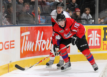 TORONTO, CAN - JANUARY 19:  Ryan Strome #16 of Team Cherry skates against Team Orr in the 2011 Home Hardware Top Prospects game on January 19, 2011 at the Air Canada Centre in Toronto, Canada. Team Orr defeated Team Cherry 7-1. (Photo by Claus Andersen/Ge