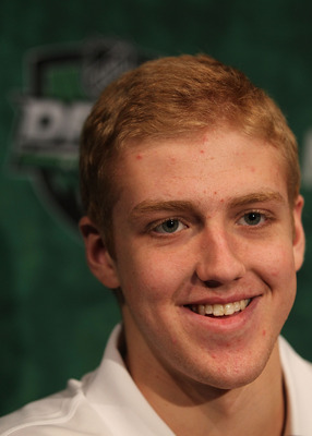 MINNEAPOLIS, MN - JUNE 23:  Dougie Hamilton talks to members of the media during the Top Prospects Media Availability as part of the 2011 NHL Entry Draft at Walker Arts Center on June 23, 2011 in Minneapolis, Minnesota.  (Photo by Nick Laham/Getty Images)