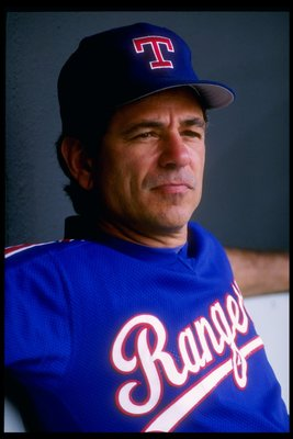 31 May 1992:  Manager Bobby Valentine of the Texas Rangers looks on during a game against the Kansas City Royals. Mandatory Credit: Earl Richardson  /Allsport
