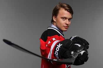 ST PAUL, MN - JUNE 24:  Fourth overall pick Adam Larsson by the New Jersey Devils poses for a photo portrait during day one of the 2011 NHL Entry Draft at Xcel Energy Center on June 24, 2011 in St Paul, Minnesota.  (Photo by Nick Laham/Getty Images)