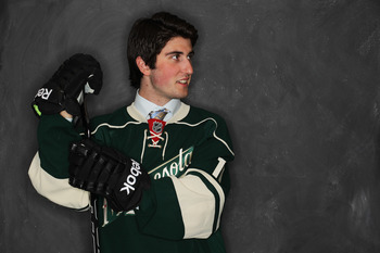 ST PAUL, MN - JUNE 24:  28th overall pick Zack Phillips by the Minnesota Wild poses for a photo portrait during day one of the 2011 NHL Entry Draft at Xcel Energy Center on June 24, 2011 in St Paul, Minnesota. (Photo by Nick Laham/Getty Images)