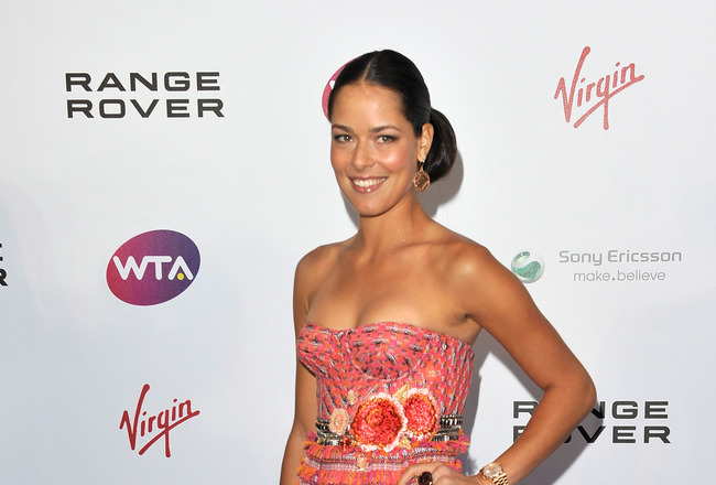 LONDON, ENGLAND - JUNE 16:  Ana Ivanovic arrive at the WTA Tour Pre-Wimbledon Party at The Roof Gardens, Kensington on June 16, 2011 in London, England.  (Photo by Gareth Cattermole/Getty Images for WTA)
