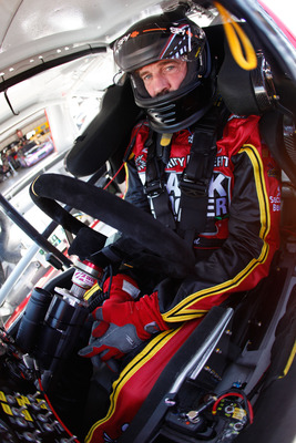 SONOMA, CA - JUNE 24:  Boris Said, driver of the #51 Thank A Teacher Today/Security Benefit Chevrolet, sits in his car during practice for the NASCAR Sprint Cup Series Toyota/Save Mart 350 at Infineon Raceway on June 24, 2011 in Sonoma, California.  (Phot