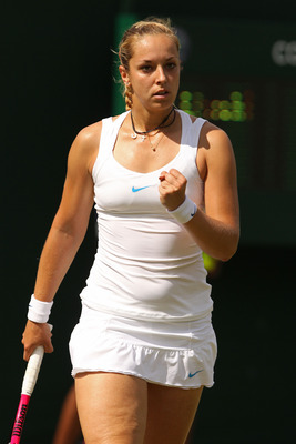 Sabine Lisicki defeated Misaki Doi in the 3rd Round of Wimbledon 2011.