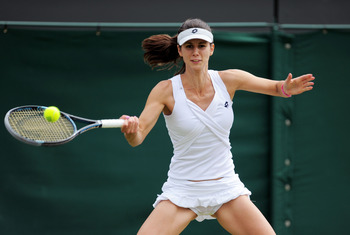 Tsvetana Pironkova defeated Vera Zvonareva in the 3rd Round in the Wimbledon 2011.