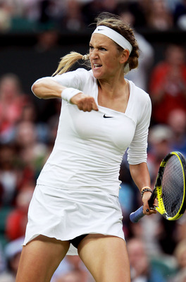 Victoria Azarenka defeated Daniela Hantuchova in the 3rd Round of Wimbledon 2011.