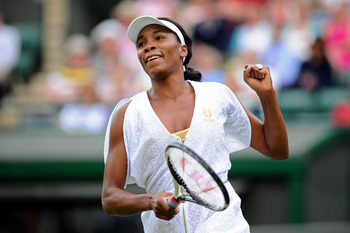Venus Williams defeated Maria Jose Martinez Sanchez in the 3rd Round of Wimbledon 2011.