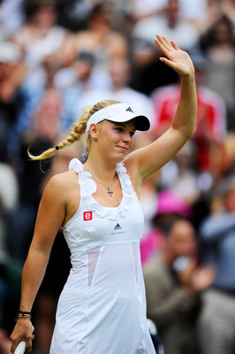 Caroline Wozniacki defeated Jarmila Gajdosova in the 3rd Round of Wimbledon 2011.