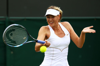 Maria Sharapova defeated Klara Zakapolova in the 3rd Round of Wimbledon 2011.