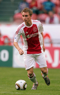 AMSTERDAM, NETHERLANDS - JULY 23:  Christian Eriksen of Ajax during a Pre-seson Friendly match between Chelsea and Ajax at Amsterdam Arena on July 23, 2010 in Amsterdam, Netherlands.  (Photo by Phil Cole/Getty Images)