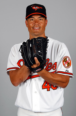 I bet his smile would be even larger if he was pitching for a contender like the Texas Rangers.
