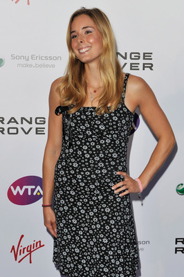 LONDON, ENGLAND - JUNE 16:  Alize Cornet arrives at the WTA Tour Pre-Wimbledon Party at The Roof Gardens, Kensington on June 16, 2011 in London, England.  (Photo by Gareth Cattermole/Getty Images for WTA)