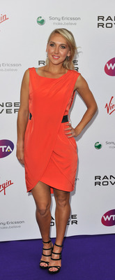 LONDON, ENGLAND - JUNE 16:  Elena Vesnina arrives at the WTA Tour Pre-Wimbledon Party at The Roof Gardens, Kensington on June 16, 2011 in London, England.  (Photo by Gareth Cattermole/Getty Images for WTA)