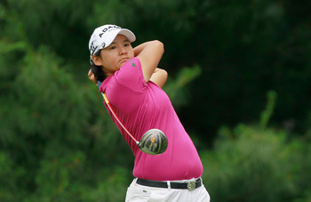 PITTSFORD, NY - JUNE 26:  Yani Tseng of Taiwan watches her tee shot on the sixth hole during the final round of the Wegmans LPGA Championship at Locust Hill Country Club on June 26, 2011 in Pittsford, New York.  (Photo by Scott Halleran/Getty Images)