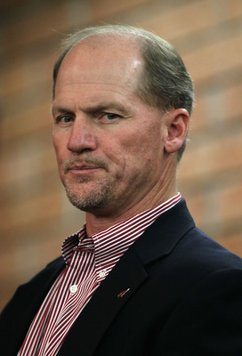 TEMPE, AZ - JANUARY 29:  Head coach Ken Whisenhunt of the Arizona Carindals attends a press conference for quarterback Kurt Warner, as he announces his retirement from football at the team's training center auditorium on January 29, 2010 in Tempe, Arizona
