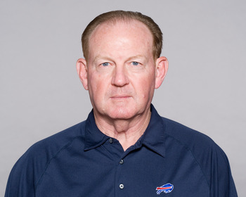 ORCHARD PARK, NY - CIRCA 2010: In this handout photo provided by the NFL, Chan Gailey of the Buffalo Bills poses for his 2010 NFL headshot circa 2010 in Orchard Park, New York. (Photo by NFL via Getty Images)