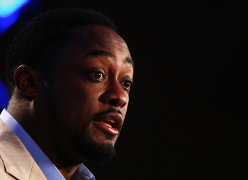 TAMPA, FL - FEBRUARY 02:  Mike Tomlin, Head Coach of the Pittsburgh Steelers speaks to the media the day after winning Super Bowl XLIII during the Post Super Bowl XLIII Coach's Press Conference on February 2, 2009 in Tampa, Florida.  (Photo by Al Bello/Ge