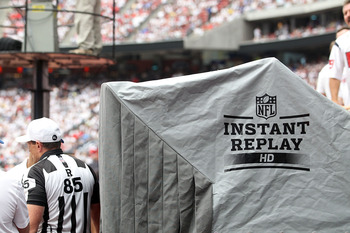 HOUSTON - SEPTEMBER 12:  The Instant Replay booth during a game between the Indianapolis Colts and the Houston Texans at Reliant Stadium on September 12, 2010 in Houston, Texas.  (Photo by Ronald Martinez/Getty Images)