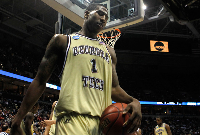 MILWAUKEE - MARCH 21:  Iman Shumpert #1 of the Georgia Tech Yellow Jackets reacts late in the second half while taking on the Ohio State Buckeyes during the second round of the 2010 NCAA men's basketball tournament at the Bradley Center on March 21, 2010