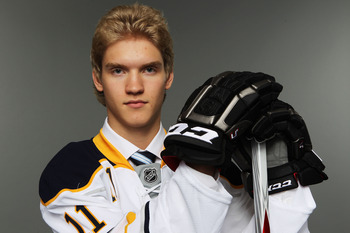 ST PAUL, MN - JUNE 24:  16th overall pick Joel Armia by the Buffalo Sabres poses for a photo portrait during day one of the 2011 NHL Entry Draft at Xcel Energy Center on June 24, 2011 in St Paul, Minnesota.  (Photo by Nick Laham/Getty Images)